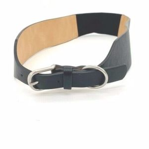4/$25 NEW Style & Co. Black Wide Stretch Belt M/L